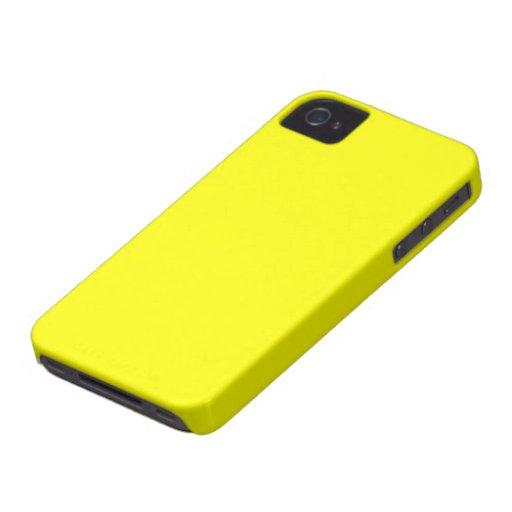 Carcasa Blacberry Bold color amarillo iPhone 4 Case-Mate Cárcasa