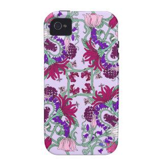Carcasa Case-Mate Para iPhone 4 Caja del teléfono de las flores que cae
