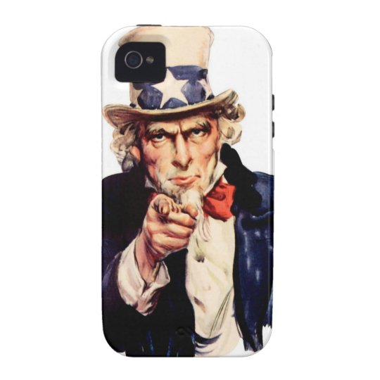 "Carcasa Case-Mate Para iPhone 4 case iPHONE 4/4S ""UNCLE SAM"""