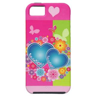 Cárcasa corazones coloridos funda para iPhone SE/5/5s