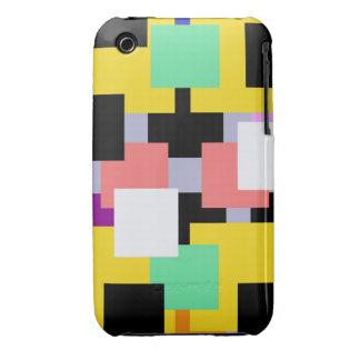 Cárcasa cuadros de colores iPhone 3 Case-Mate fundas