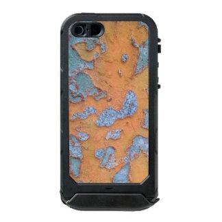 Carcasa De Iphone 5 Incipio Atlas Id Corteza de árbol anaranjada y azul