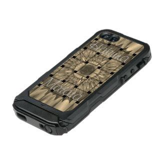 Carcasa De Iphone 5 Incipio Atlas Id El último Hakuna gris tejido precioso africano