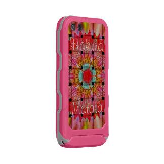 Carcasa De Iphone 5 Incipio Atlas Id Hakuna gris rosado precioso Matata