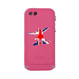 Carcasa De Iphone 5 Incipio Atlas Id SNOWBOARDER de Union Jack (blanco)