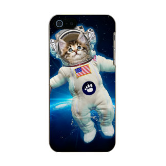 Carcasa De Iphone 5 Incipio Feather Shine Astronauta del gato - gato del espacio - amante