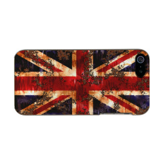 Carcasa De Iphone 5 Incipio Feather Shine Bandera patriótica aherrumbrada de Reino Unido