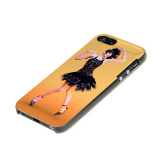 Carcasa De Iphone 5 Incipio Feather Shine flapper16_orange_pod