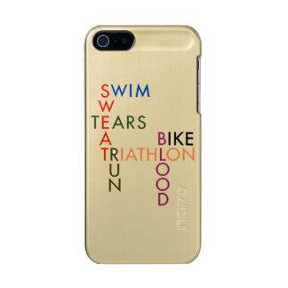 Carcasa De Iphone 5 Incipio Feather Shine Rasgones del sudor de la sangre del funcionamiento