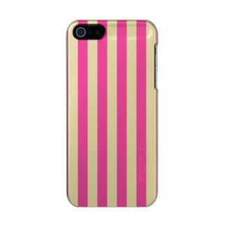 Carcasa De Iphone 5 Incipio Feather Shine Rayas verticales rosadas