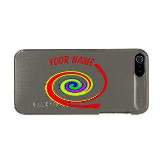 Carcasa De Iphone 5 Incipio Feather Shine Remolino multicolor. Añada su texto