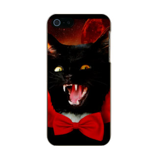 Carcasa De Iphone 5 Incipio Feather Shine vampiro del gato - gato negro - gatos divertidos
