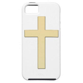 Carcasa de móvil con cruz en oro iPhone 5 carcasa
