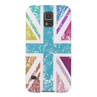 Carcasa Galaxy S5 Bandera de unión apenada multicolora