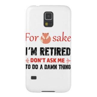 Carcasa Galaxy S5 Divertido soy diseños jubilados
