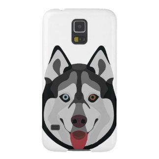 Carcasa Galaxy S5 El ilustracion persigue el husky siberiano de la