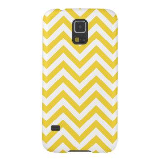 Carcasa Galaxy S5 El zigzag amarillo y blanco raya el modelo de