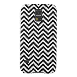 Carcasa Galaxy S5 El zigzag blanco y negro raya el modelo de Chevron