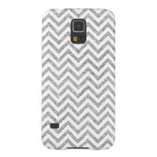 Carcasa Galaxy S5 El zigzag de plata del brillo raya el modelo de