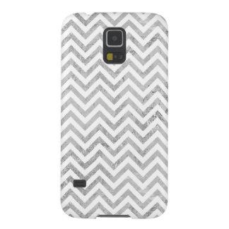 Carcasa Galaxy S5 El zigzag elegante de la hoja de plata raya el