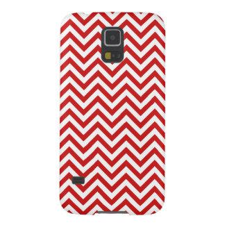 Carcasa Galaxy S5 El zigzag rojo y blanco raya el modelo de Chevron