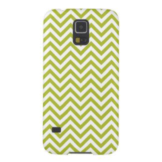 Carcasa Galaxy S5 El zigzag verde y blanco raya el modelo de Chevron