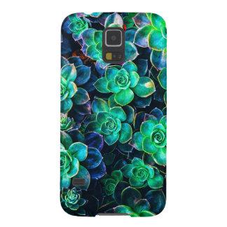Carcasa Galaxy S5 Foto suculenta verde de la naturaleza