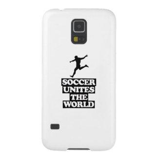 Carcasa Galaxy S5 fresco y tendiendo DISEÑOS del fútbol