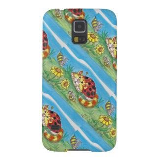 Carcasa Galaxy S5 La mariquita del gato de CatABug manosea arte de