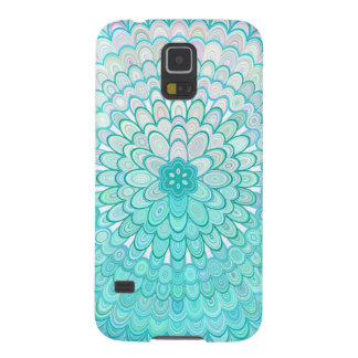 Carcasa Galaxy S5 Mandala de la flor del hielo