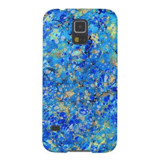 Carcasa Galaxy S5 Modelo hermoso azul del mar elegante con el cordón