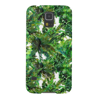 Carcasa Galaxy S5 Modelo verde de la caída del bosque del helecho de
