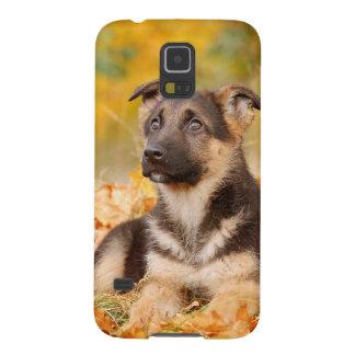 Carcasa Galaxy S5 Perrito del perro de pastor alemán del otoño