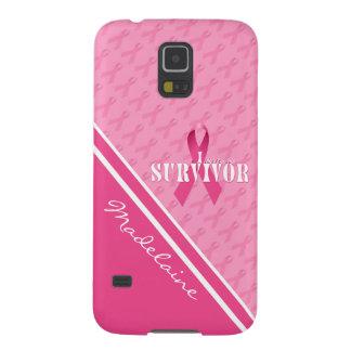 Carcasa Galaxy S5 Superviviente de encargo del cáncer de pecho de la