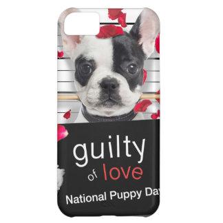 Carcasa iPhone 5C Dogo francés del el día de San Valentín