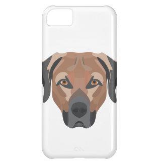 Carcasa iPhone 5C Perro Brown Labrador del ilustracion