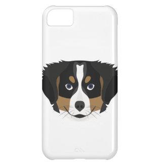 Carcasa iPhone 5C Perro de montaña de Bernese del ilustracion