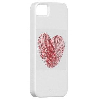 Carcasa iPhone con huella de corazón