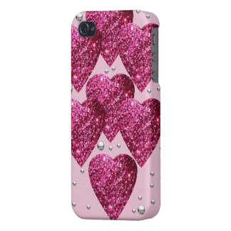 Carcasa iPhone corazones glitter iPhone 4 Protector