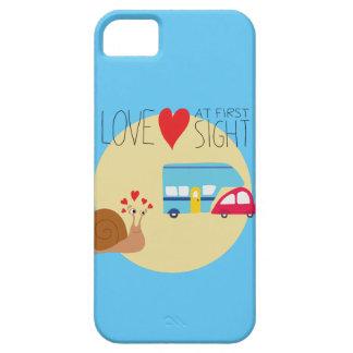 Carcasa móvil diseño divertido CaracolEnamorado iPhone 5 Cárcasa