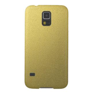 Carcasa Para Galasy S5 Efecto metálico del efecto metalizado del oro