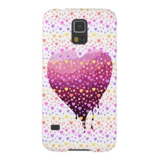 Carcasa Para Galasy S5 El corazón de la tarjeta del día de San Valentín