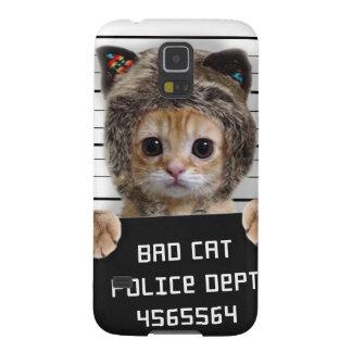 Carcasa Para Galasy S5 gato del mugshot - gato loco - gatito - felino