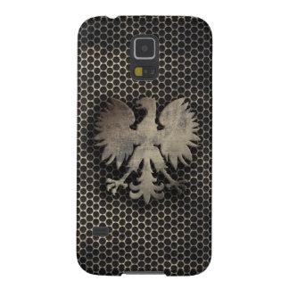 Carcasa Para Galasy S5 Mirada polaca del estilo del metal de Eagle