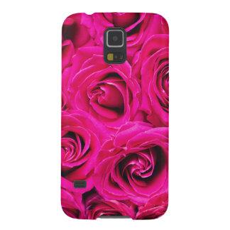Carcasa Para Galasy S5 Modelo púrpura rosado romántico de los rosas
