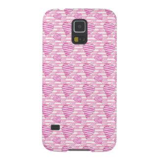 Carcasa Para Galasy S5 Modelo rosado de los corazones
