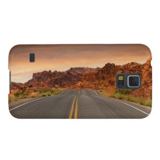 Carcasa Para Galasy S5 Puesta del sol del viaje por carretera