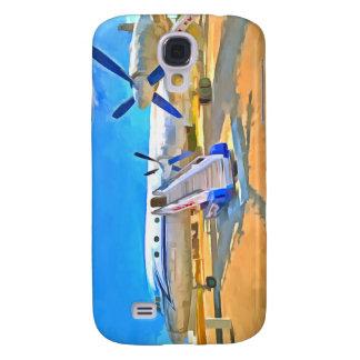 Carcasa Para Galaxy S4 Avión de pasajeros del arte pop