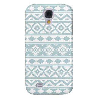 Carcasa Para Galaxy S4 Azul azteca y blanco del huevo del pato de Ptn