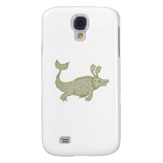 Carcasa Para Galaxy S4 Dibujo antiguo del monstruo de mar